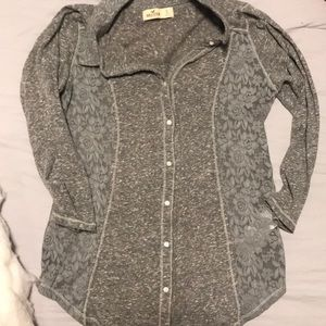 Hollister Long-Sleeve Lace Tee NWOT